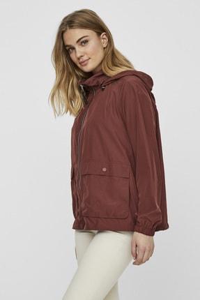 Vero Moda Kadın Bordo Çanta Olabilen Mevsimlik İnce Mont 10222923 VMHARLEM 1