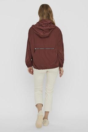 Vero Moda Kadın Bordo Çanta Olabilen Mevsimlik İnce Mont 10222923 VMHARLEM 3