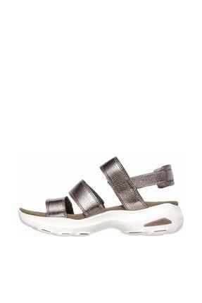 Skechers D'LITES ULTRA - FAB LIFE Kadın Gri Sandalet 2