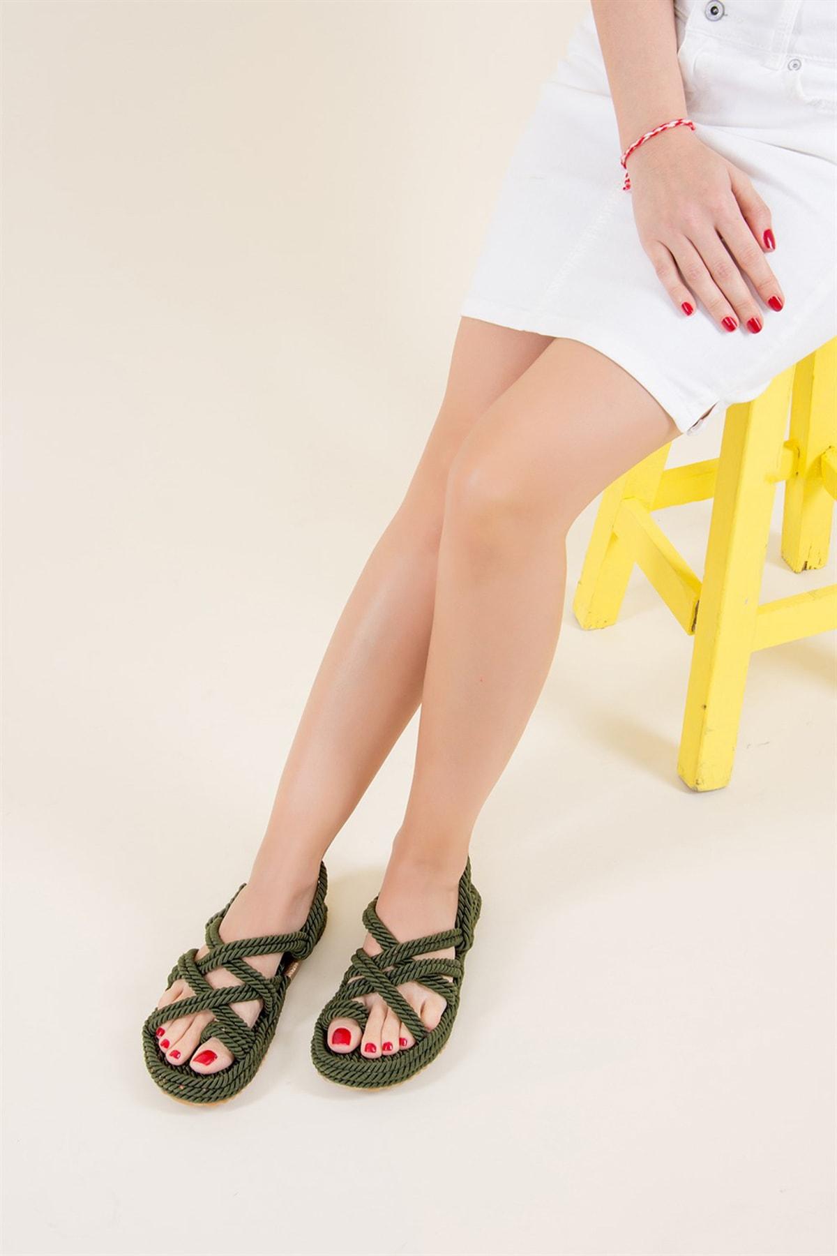 Haki Kadın Sandalet F470135104