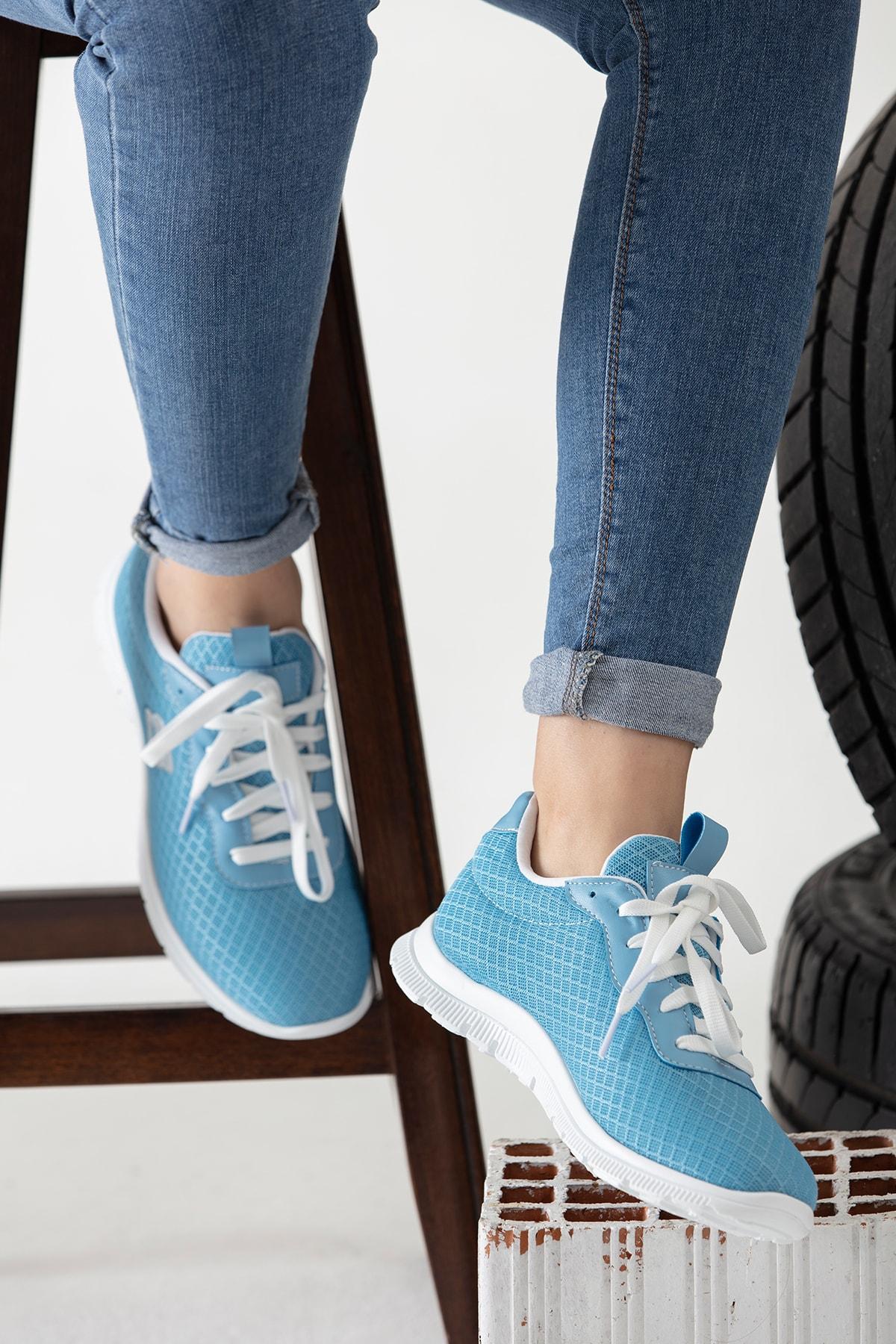 Moda Eleysa Mavi Kadın Sneaker