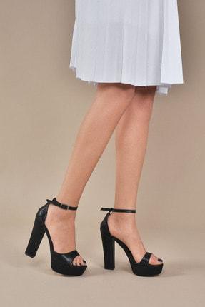 Kadın  Siyah-slt Klasik Topuklu Ayakkabı Vzn20-031y resmi