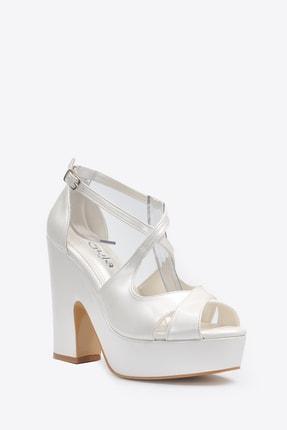 Vizon Ayakkabı Kadın  Sedef Klasik Topuklu Ayakkabı VZN20-045Y 2
