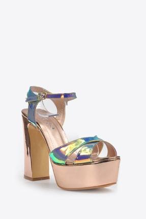 Vizon Ayakkabı Kadın  Bakır Klasik Topuklu Ayakkabı VZN20-044Y 2