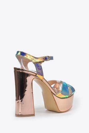 Vizon Ayakkabı Kadın  Bakır Klasik Topuklu Ayakkabı VZN20-044Y 3