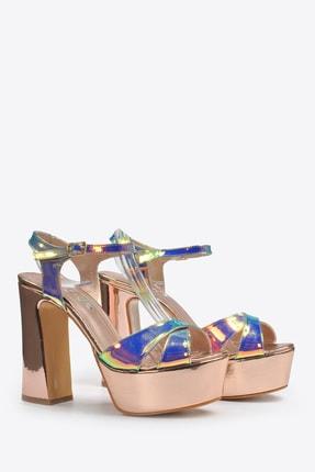 Vizon Ayakkabı Kadın  Bakır Klasik Topuklu Ayakkabı VZN20-044Y 4