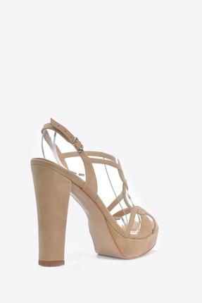 Vizon Ayakkabı Kadın  Ten-Süet Klasik Topuklu Ayakkabı VZN20-034Y 3