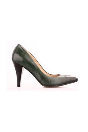 Dgn Yeşil Kadın Klasik Topuklu Ayakkabı 199-148 1