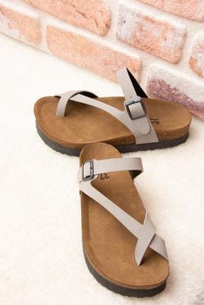 Fox Shoes Gri Kadın Terlik B777753002 1