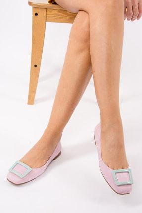 Fox Shoes Lila Su Yeşili Kadın Babet H726452002 1