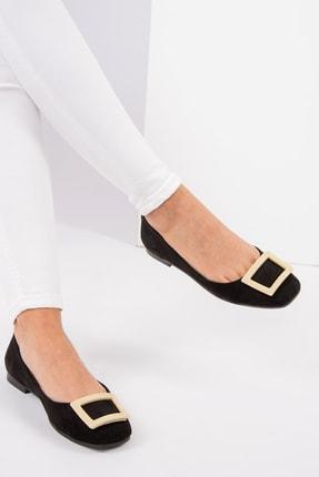 Fox Shoes Siyah Ten Kadın Babet H726452002 0