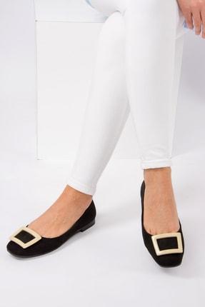 Fox Shoes Siyah Ten Kadın Babet H726452002 1