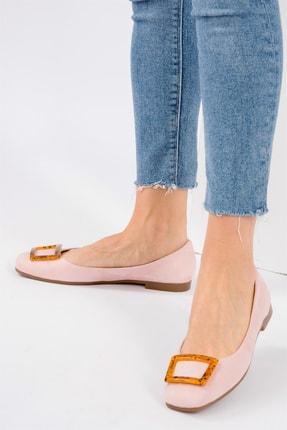 Fox Shoes Pudra/Taba Kadın Babet H726452002 0