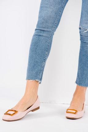 Fox Shoes Pudra/Taba Kadın Babet H726452002 1