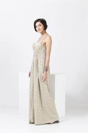 Missoni Askılı , Altın Desenli , Maxi Elbise 1