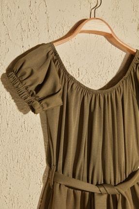 TRENDYOLMİLLA Haki Kuşak Detaylı Örme Elbise TWOSS20EL2764 1