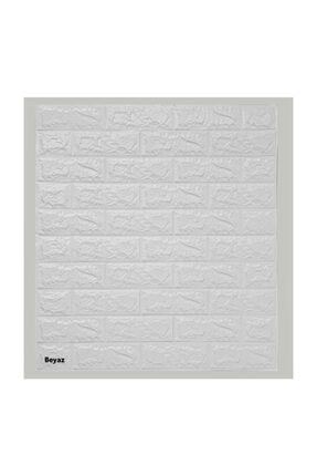 hedefsan Kendinden Yapışkanlı Duvar Paneli 3d Tuğla Beyaz 1