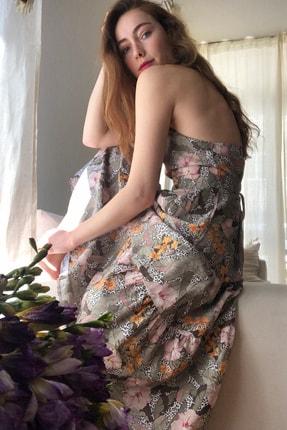 TRENDYOLMİLLA Çok Renkli Çiçek Desenli Sırt Dekolteli Elbise TWOSS20EL1907 3