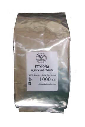 Yılman Kahvecisi Ethiopia (etiyopya) Arabica Filtre Kahve 1000 gr Orta Kavrulmuş Tam Çekirdek 0