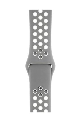 Melefoni Apple Watch 44 mm Spor Delikli Kordon Silikon Kayış 2
