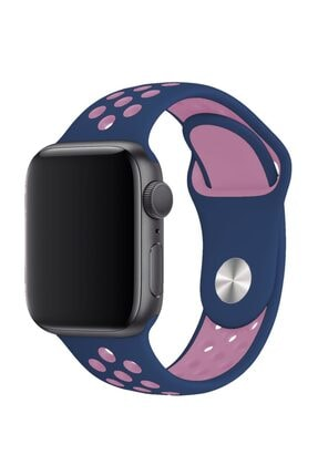 Melefoni Apple Watch 44 mm Spor Delikli Kordon Silikon Kayış 0