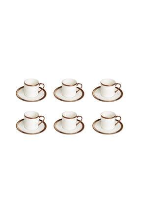 Porland Copper Line Kahve Takımı 12 Parça 0