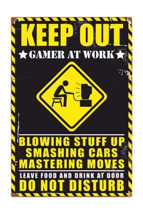 Vintage Ahşap Poster Gamer Oyuncu 0