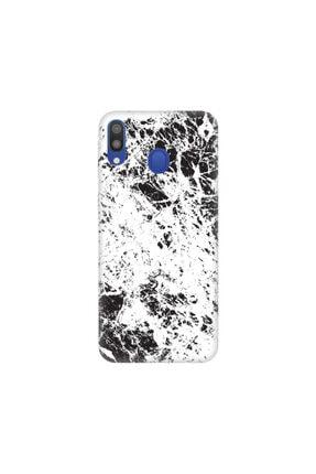 cupcase Samsung Galaxy A30 Kılıf Esnek Silikon Telefon Kabı Kapak - Marble Wow 0