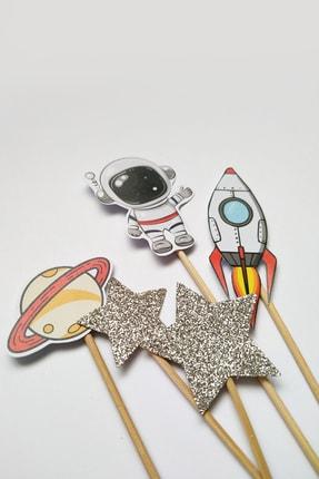 MOONMADE Uzay El Yapımı Kağıt Pasta Süsü 1