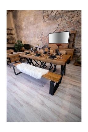 NT Concept Masif Ağaç Yemek Masası - 85cm-185cm Masa 1