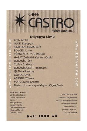 Castro Etiyopya Limu Gr2 Nitelikli Çekirdek Kahve 1000 Gr. 1