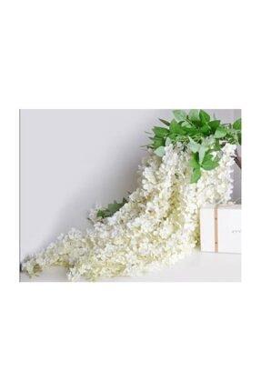 Nettenevime Sarkan Yapay Çiçek Akasya Beyaz 80 Cm 3 Sarkan Dallı 12 Adet Bağ 1