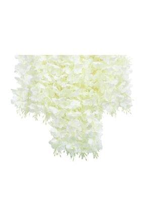 Nettenevime Sarkan Yapay Çiçek Akasya Beyaz 80 Cm 3 Sarkan Dallı 12 Adet Bağ 2