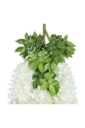 Nettenevime Sarkan Yapay Çiçek Akasya Beyaz 80 Cm 3 Sarkan Dallı 12 Adet Bağ 4