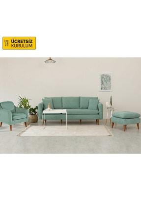 Vivense Sofia Koltuk Takımı Fıstık Yeşili 0