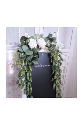 Nettenevime Yapay Çiçek Sarkan Yeşil Bitki Pudralı Başak Doğal Çiçek Dekoru 60 cm 2