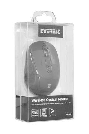 Everest Sm-300 Usb Siyah 4D Optik Kablosuz Mouse 1