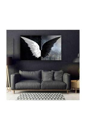 My canvas Siyah Beyaz Kanatlar Tuval Kanvas Tablo 0
