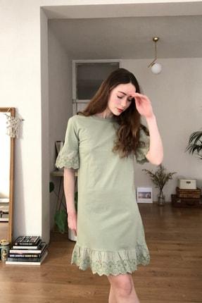 TRENDYOLMİLLA Mint Dantelli Ve Volanlı Örme Elbise TWOSS20EL3112 1