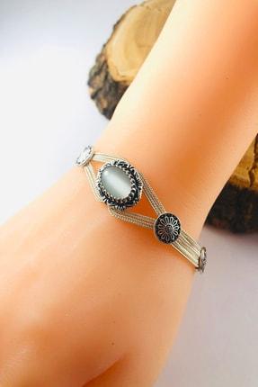 Sungurbey Gümüş Dünyası Sedef Taşlı Mardin Hasırı Gümüş Bayan Bileklik 1