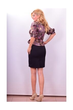 Maya 5285d Şal Desen Elbise 2