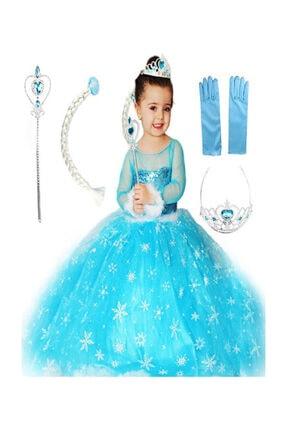 Bambam Frozen Elsa Kostüm Karlar Ülkesi Kız Çocuk Kostümü 0