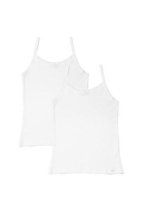 Katia & Bony Kız Çocuk Beyaz Basic 2'li İnce Askılı Atlet 0