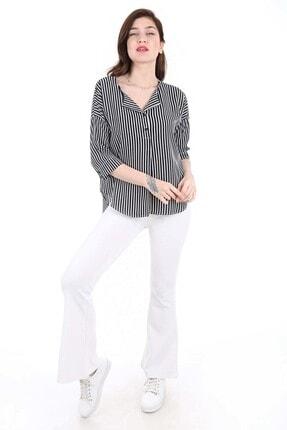 Bigdart Kadın Siyah Top Düğmeli Bluz 0355bgd19_001 0