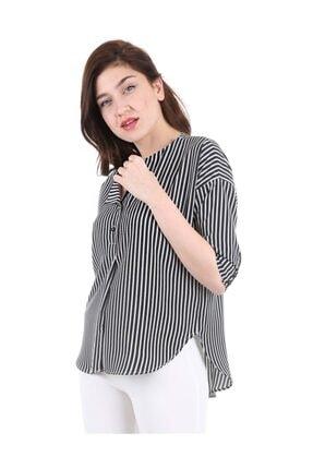 Bigdart Kadın Siyah Top Düğmeli Bluz 0355bgd19_001 3