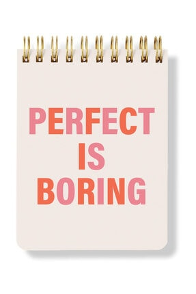 Fabooks Perfect Is Boring Spiral Notepad 0