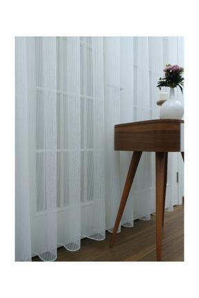 Esse Home Düz Çizgili Örme Tül Perde, Seyrek Pile, 1/2 400x260 cm 4