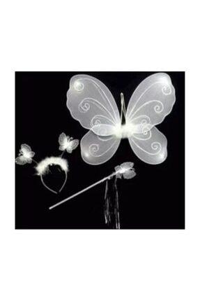 beysüs Kelebek Kanadı Çocuk Kanat 3 Lü Set Beyaz 1