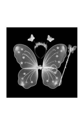 beysüs Kelebek Kanadı Çocuk Kanat 3 Lü Set Beyaz 2