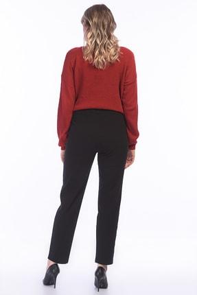 Şans Kadın Siyah Likralı Bengalin Kumaş Pantolon 65N15832 1